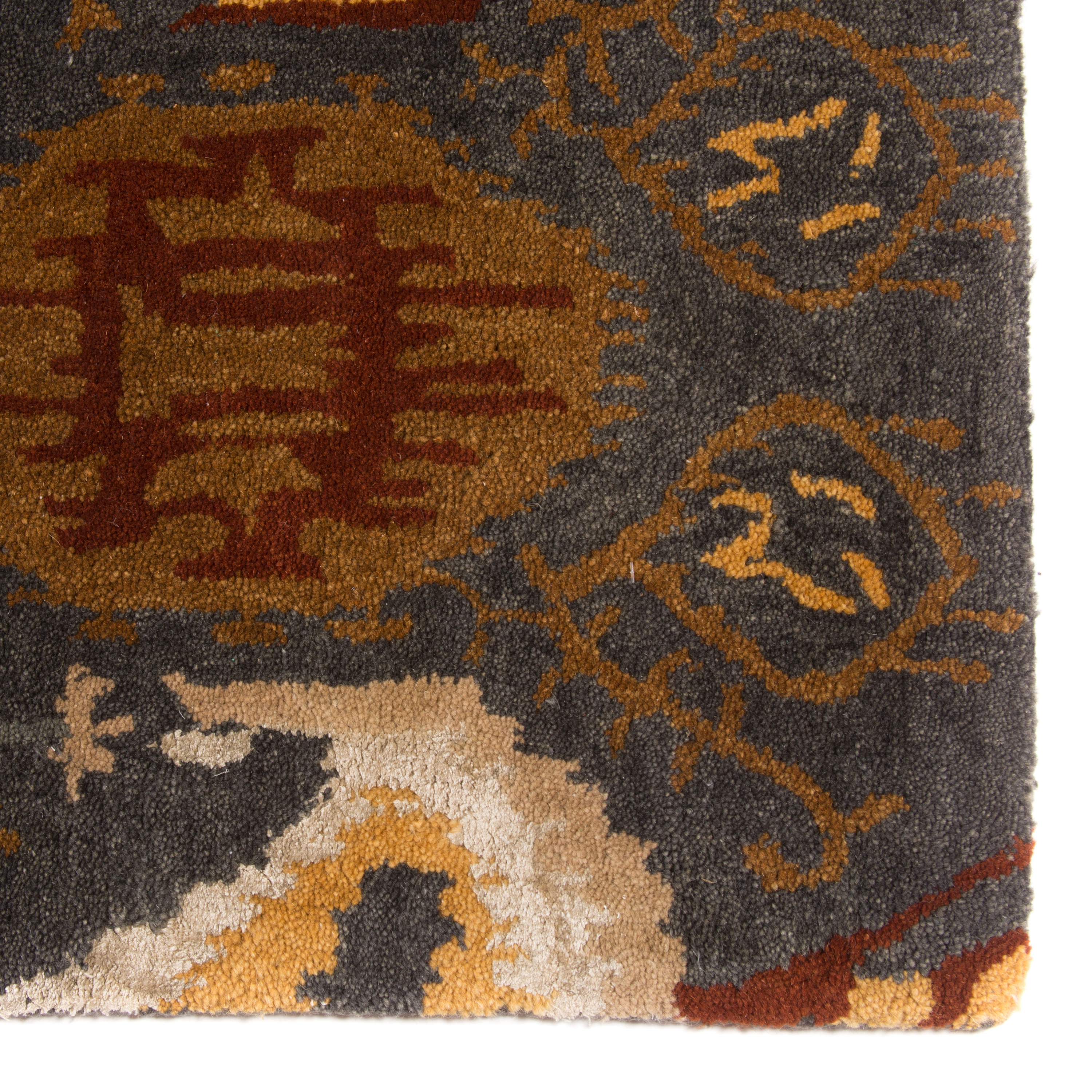Alex Cooper Reserve Traditional Wool Pile Hand Tufted Grey