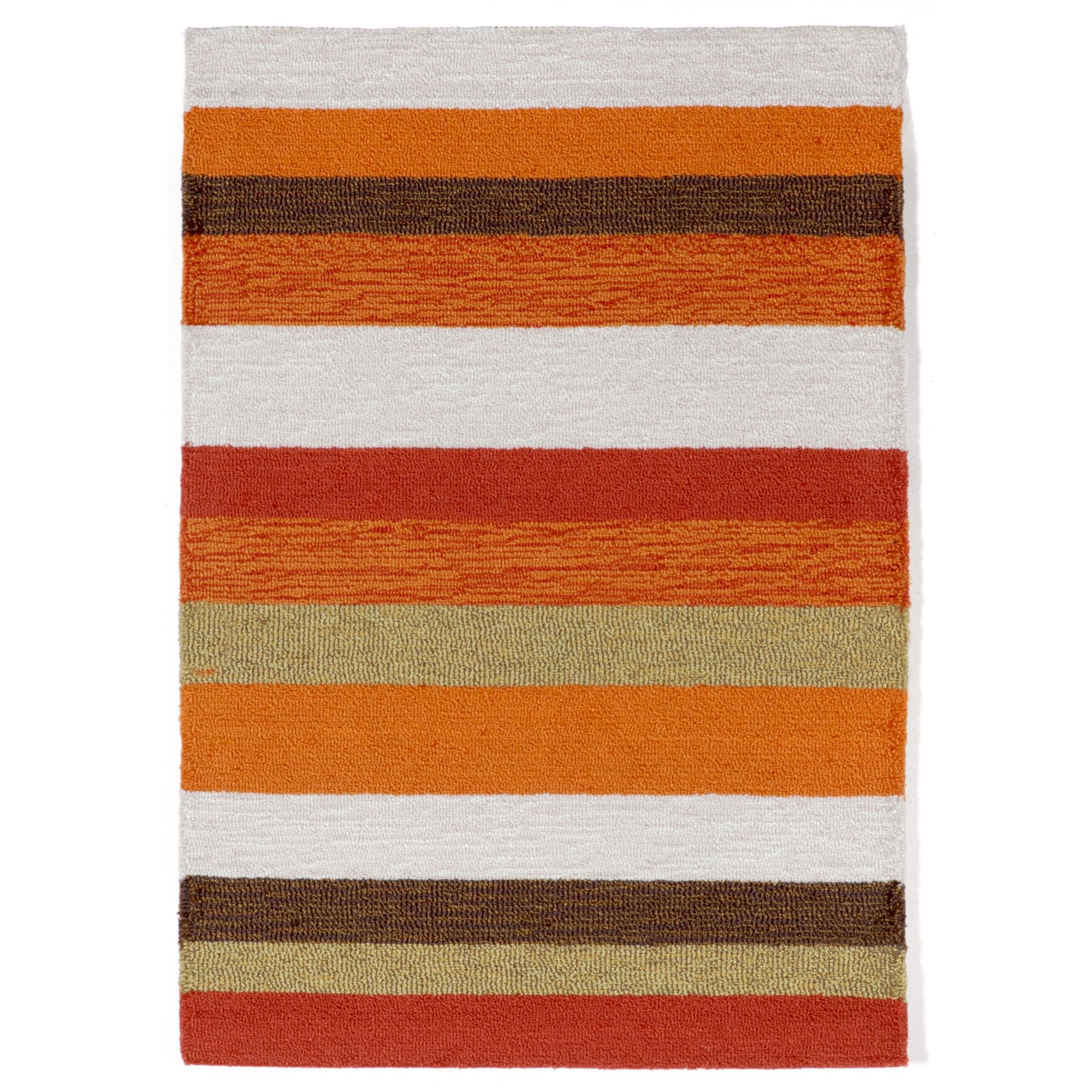 Liora Manne Ravella Stripe Indoor Outdoor Rug Orange Alex Cooper